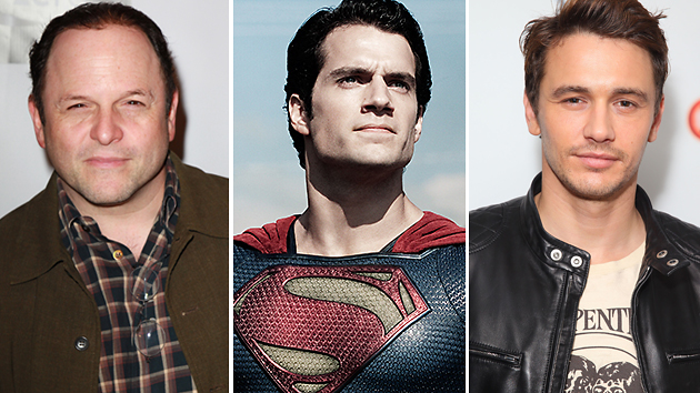 Jason Alexander, Henry Cavill and James Franco. Photos courtesy of Getty & Warner Bros.
