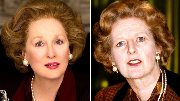 Meryl Streep, left, and Margaret Thatcher (Photo: Weinstein Company/Getty Images)