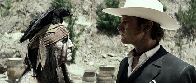 Johnny Depp and Armie Hammer in 'The Lone Ranger' (Photo: Walt Disney Pictures)
