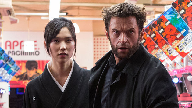 Tao Okamoto and Hugh Jackman in 'The Wolverine' (Photo: 20th Century Fox)