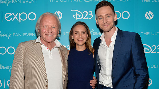 Anthony Hopkins, Natalie Portman and Tom Hiddleston at D23 (Photo: Alberto E. Rodriguez/WireImage)