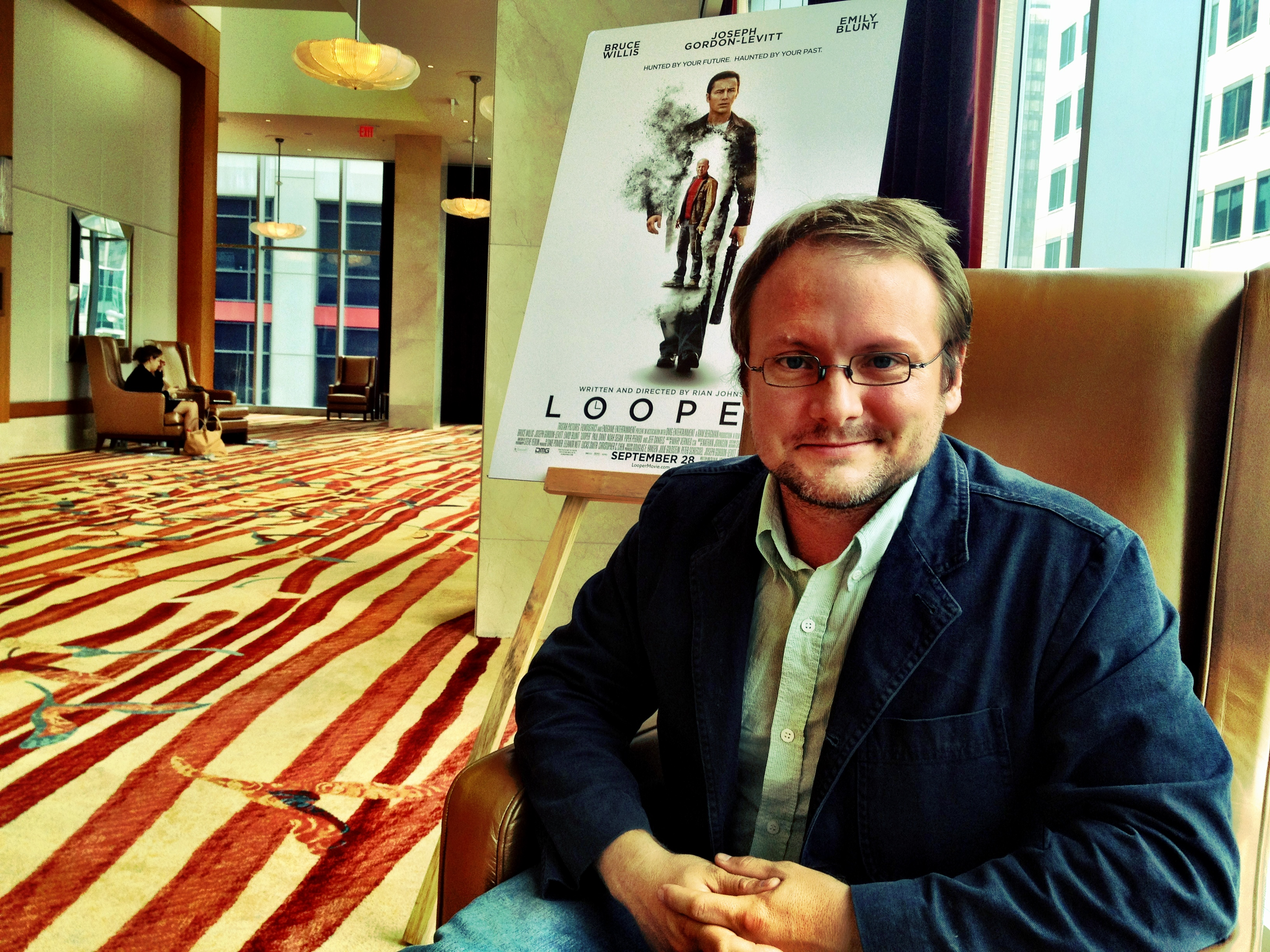 Yahoo! Movies sat down with 'Looper' director Rian Johnson on Friday. (Photo: Jonathan Crow/ Yahoo! Movies)