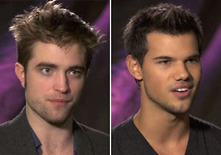 Pattinson, left, and Lautner (Photo: Yahoo! Movies)