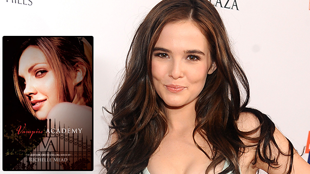 Zoey Deutch (Getty Images), Inset: 'Vampire Academy,' by Richelle Mead (Razorbill)