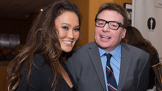Tia Carrere, pictured here with Mike Myers on Tuesday, still rocks! (Photo: A.M.P.A.S.)