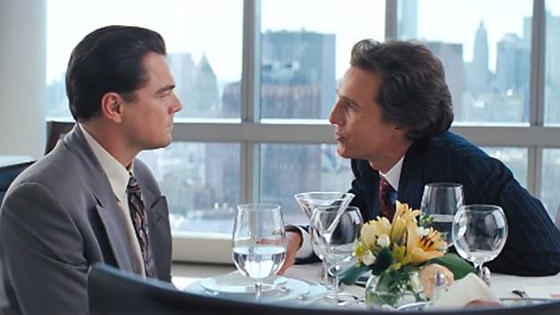 Leonardo DiCaprio & Matthew McConaughey in Paramount Pictures' 'The Wolf of Wall Street'