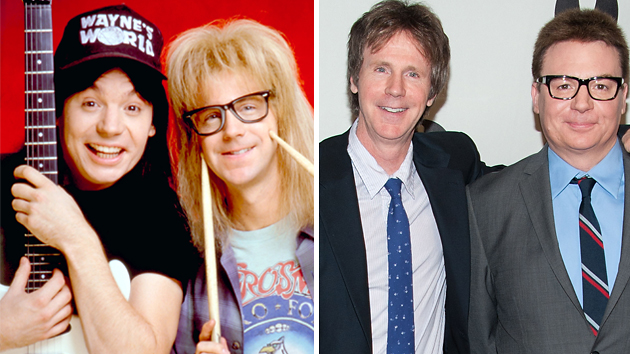Mike Myers aka Wayne, and Dana Carvey aka Garth, then and now (Photo: Everett/Getty)