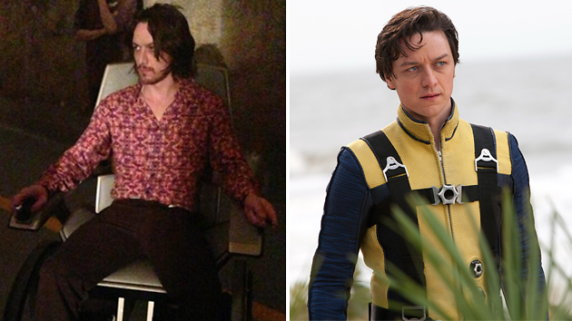 James McAvoy in 'X-Men' now (left) and in the 2011 installment (Photo: @BryanSinger/Twitter/Everett Collection)
