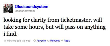 LCD Soundsystem Final Show Ticket Fail Enrages Everyone