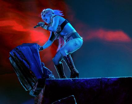 Lady Gaga Brings Extremely Literal Performance to 'Idol' Finale