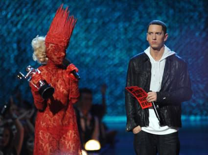 Eminem Tries, Fails to Diss Lady Gaga With Lame Old Punch Line
