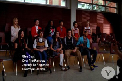 "The Cast Of ""Glee,"" Framed"