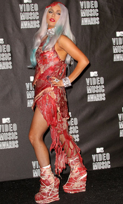 Meet the Mystery Meat Dress: Lady Gaga Explains Rare VMAs Outfit