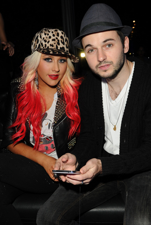 Aguilera with beau Matthew Rutler (Getty Images)