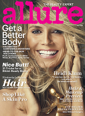 Klum on the cover of Allure. (Norman Jean Roy/ALLURE)