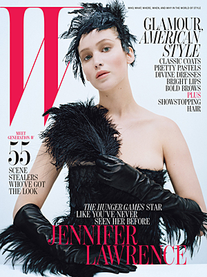Jennifer Lawrence on the cover of W magazine. (Tim Walker/W)