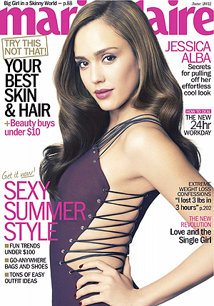 Alba on the June cover. (Tesh)