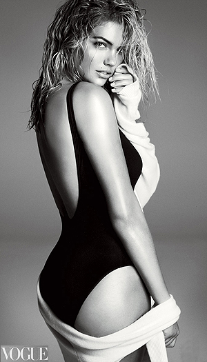Kate Upton is sexy in swimwear. (Steven Meisel/Vogue)