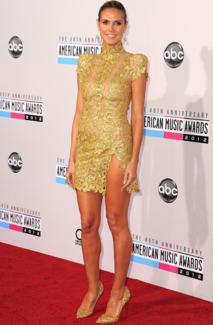 Heidi Klum at the AMAs (Getty Images)