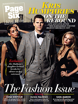 Kris Humphries on the cover of Page Six Magazine. (Peter Yang)