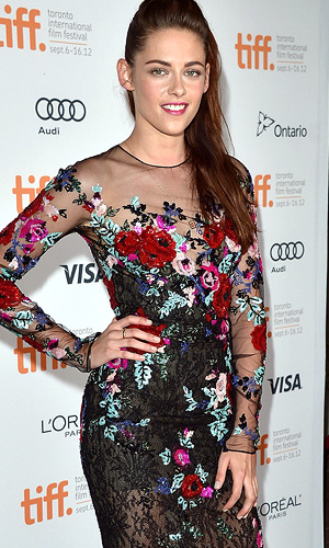 Kristen Stewart works the red carpet at TIFF. (George Pimentel/Getty Images)