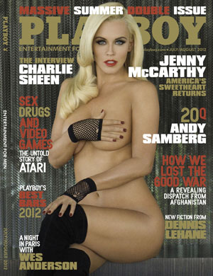 McCarthy on the cover of the July/August issue of Playboy