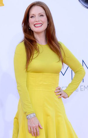 Julianne Moore at the 2012 Emmys (Getty Images)