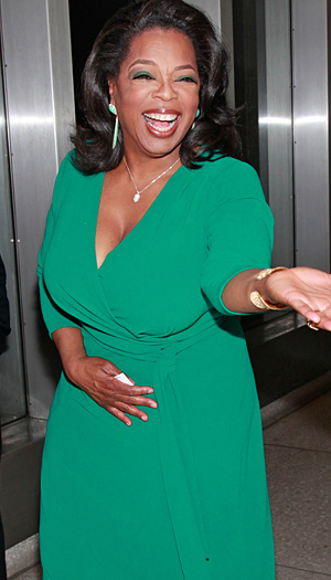 Ling's pal and boss Oprah. (Charles Eshelman/FilmMagic)