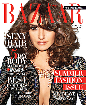 Cruz covers the May issue of Harper's Bazaar (Terry Richardson)