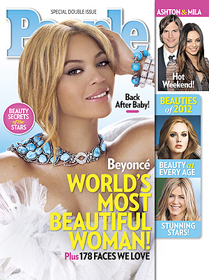 People has named Beyonce the world's most beautiful woman. (People)