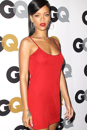 Rihanna on the red carpet (Splash News)