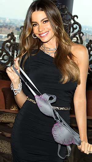 Sofia Vergara poses with her collection. (Startracksphoto.com)
