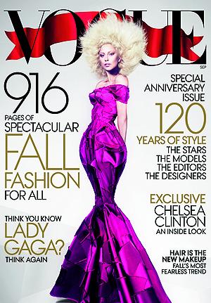 Lady Gaga on the cover of Vogue's September issue. (Mert Alas and Marcus Piggott/Vogue)