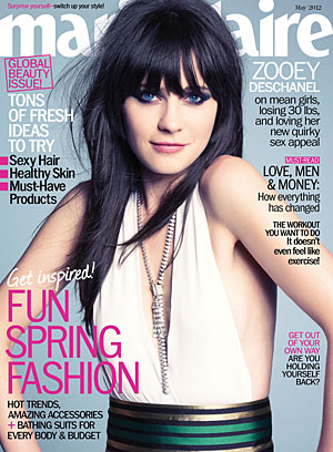 Deschanel on May cover of Marie Claire. (Tesh)