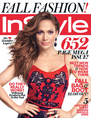 Jennifer Lopez on the cover of InStyle's September issue. (Michelangelo Di Battista/InStyle)