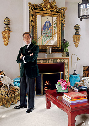Valentino opens up his French chateau to Architectural Digest.