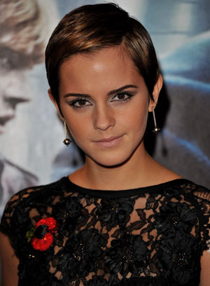 Watson with her pixie cut back in 2010 (Getty Images)