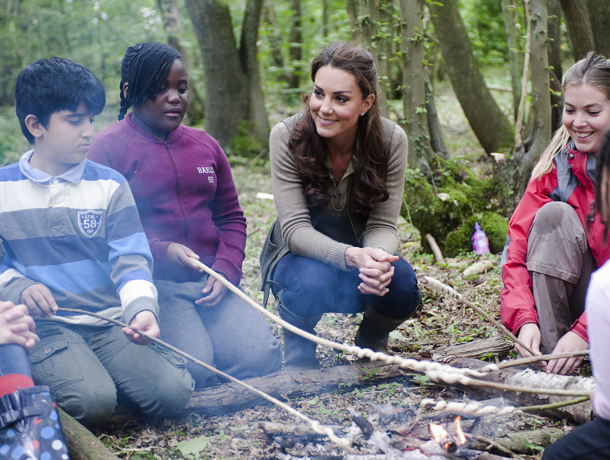 Kate Middleton joined some young campers (David Parker/WPA Pool/Getty Images)