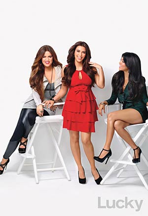 Kim, Kourtney, and Khloe Kardashian talked to Lucky magazine for its November issue. Each sister got to do her own cover shoot too. - Robert Erdmann/Lucky