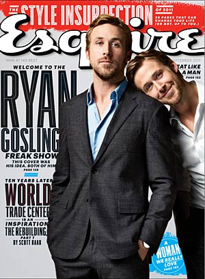 Ryan Gosling and Ryan Gosling are featured on the cover of Esquire 's September issue. - Perou/Esquire