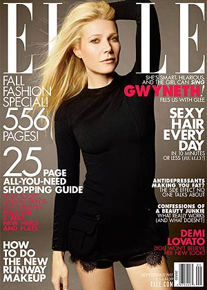 Gwyneth Paltrow is Elle magazine's September cover girl. - Carter Smith/Elle