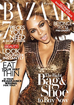 Pregnant Beyonce glows on the cover of Harper's Bazaar . - Terry Richardson