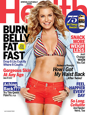 Rebecca on the cover of the July/August issue of Health magazine.