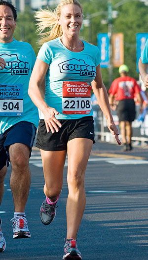 Kate Gosselin ran a mini marathon in Chicago over the weekend. (Thomas Hiatt/Getty Images)