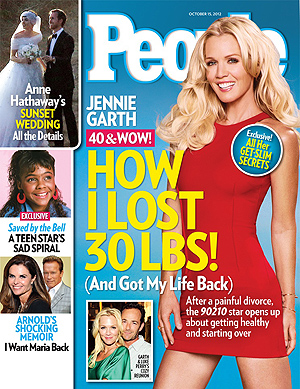 Jennie Garth on the cover of People.