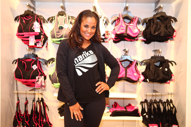 Laila Ali is the spokesperson for Marika sports bras. Photo by Hagop Kalaidjian