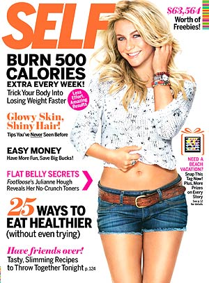 "Julianne Hough talks about what makes her happy, the ""Footloose"" remake, and more in the latest issue of Self . - Kenneth Willardt"