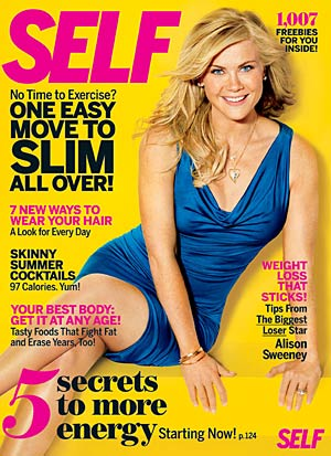 """Biggest Loser"" host Alison Sweeney talks to Self magazine for the magazine's August issue. - Robert Erdmann/Self"
