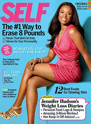 A slim Jennifer Hudson graces the cover of Self magazine's September issue. - Robert Erdmann/Self