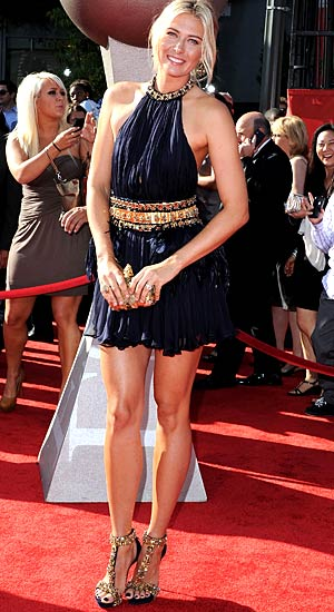 Sharapova goes from athlete to celeb on the red carpet. - Jon Kopaloff/FilmMagic.com